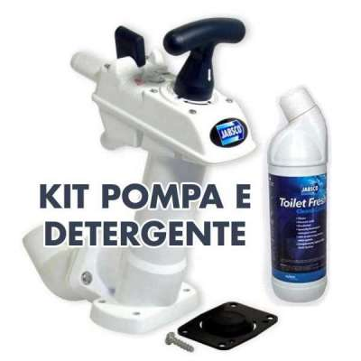 Kit Pompa WC Jabsco + detergente Fresh Toilet