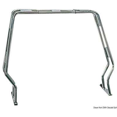 Roll bar abbattibile per gommoni