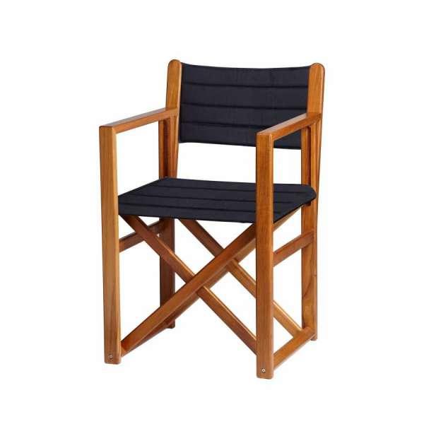 Sedia regista in teak colore Blu | NauticaPiuShop.it